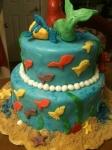 Ariel the Little Mermaid fondant cake