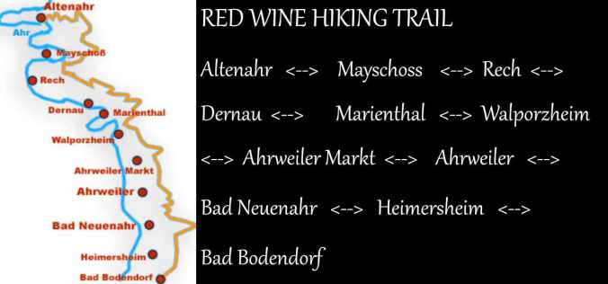 Red Wine Hiking Trail Stops